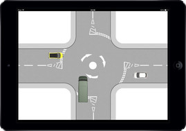 Interactive Mini Roundabout Demo